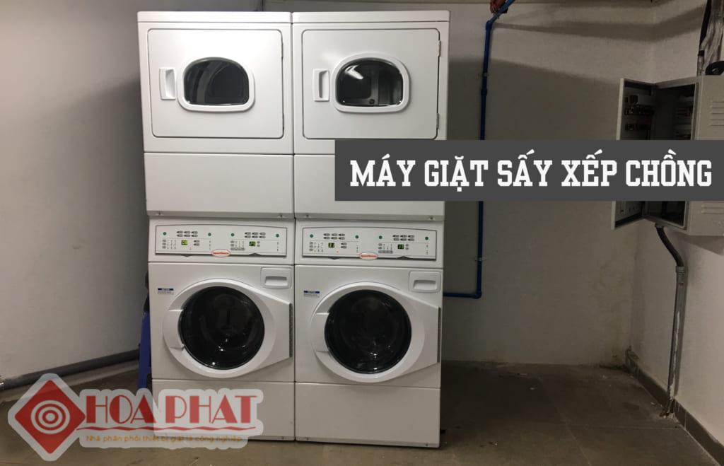 máy giặt sấy xếp chồng Speed Queen